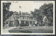 Postcard Dwight Illinois/Il Keeley Institute Lodge House 1930's