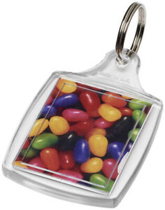 Classic Insert Key Rings - S5 clear acrylic fobs made in the UK 40x32mm inserts