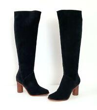 MATT BERNSON Black Suede Kafta Tall Knee High Boots Sz 7 $349