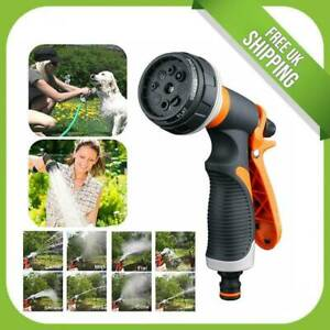 8 Pattern Multi Function Garden Hose Pipe Water Nozzle Spray Gun Comfort Handle