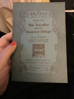 THE TRAVELLER AND THE DESERTED VILLAGE Oliver Goldsmith Info (Brodie Books No.9)