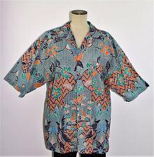 Vintage Men's Batik Indonesian Casual Camp Tourist Shirt by JANTZEN - Size XL