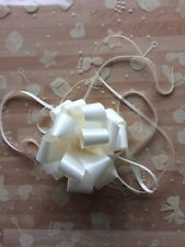 Cellophane gift wrap 2m x 80 cm- Ivory Baby Shower Boy Girl FREE PULL BOW