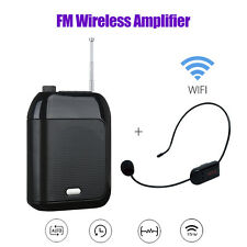 T9 Voice Recording Loudspeaker+FM Wireless/Wired Microphone Receiver+Waistband