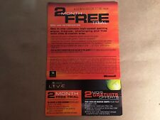 Expired Original Xbox 2 Months Free Trial Xbox Live Card Never Used