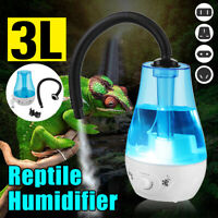 3L Amphibians Reptile Humidifier Reptile Fogger Extension Tube Terrarium UK Plug