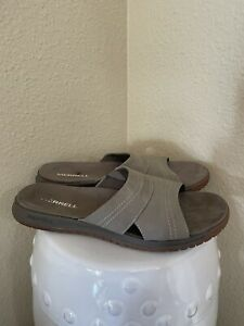 Merrell Veron Slide Sandal Taupe Men's Size 11 J000833 MSRP $65 EUC