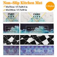 Non-Slip Waterproof Kitchen Door Mat Machine Washable Home Floor Rug Carpet-