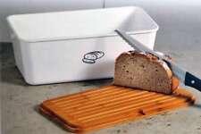 Brotbox weiß aus Melamin inkl. Bambus-Schneidebrett Brotkasten KESPER 18090