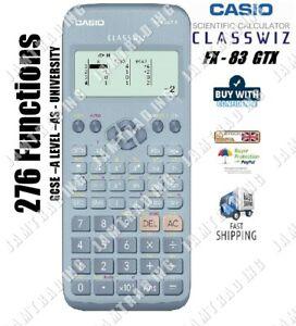 Casio FX-83 GTX GCSE & Higher Grade Scientific Calculator 276 Functions - BLUE