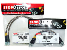 Stoptech Stainless Steel Braided Brake Lines (Front & Rear Set / 35001+35502)