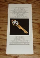 Original 1988 Chrysler New Yorker Crystal Key Owner Care Program Sales Brochure