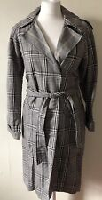 Topshop Oversized Belted Duster Trench Coat Heritage Mac Size 6 BNWT Christmas