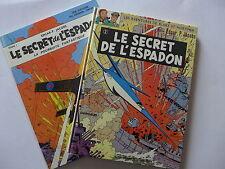 Blake et Mortimer - Le secret de l'espadon. Tomes 1 & 2 / rééd. 1970