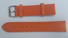 BRACELET MONTRE TISSU / CUIR  //    BOUCLE ARGENTE /* orange   /* 20 mm REF.DK46