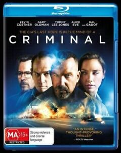 CRIMINAL (2016 MOVIE - BLU RAY SEALED + FREE POST)