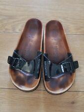 Birkenstock Relax Black Summer Sliders Size Euro 36 Uk 3