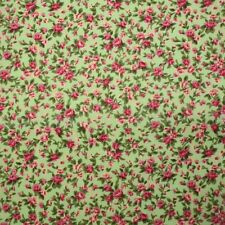 Itsy Bitsy Tiny Floral Poly Cotton - Green - Vintage Fabric