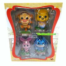 Disney Hot Toys Winnie the Pooh Cosbaby Collectible Set (Set of 4) Flocked