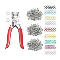 100pc 9.5mm Prong Plier Ring Snap Fasteners Press Studs Kit Popper Grommet Tool
