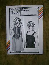 Sundress Pattern #1587 Sun Dress Stitch & Sew 1984 New Uncut