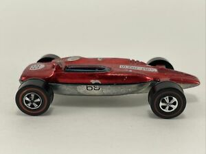 1969 Hot Wheels Original Redlines RED SHELBY TURBINE super nice
