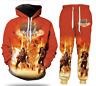 Men /Women Rock KISS Band 3D Print Sweatshirt Hoodies Jogging pants Sport Suit