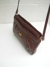Etienne Aigner Vintage Dark Burgundy Soft Leather Shoulder / Crossbody Handbag