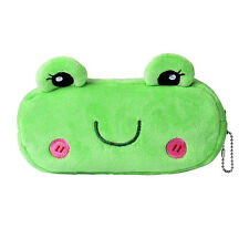 Portable Green Cartoon Pencil Case Plush Makeup Pen Bag Pouch For Kids HOT2 LOT