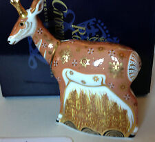 Royal Crown Derby Pronghorn Antelope - Limited Edition- Perfect & Boxed