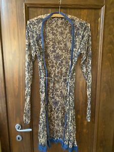 Unbranded blue beige lace Nightdress sleepwear nightgown size S