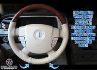 2003-2004 Lincoln Aviator Luxury Premium Pkg -Leather Steering Wheel Cover, Tan