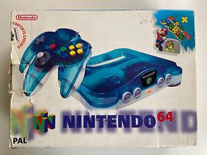 Nintendo 64 - Clear Blue Funtastic N64 Console Super Mario! Good Condition!