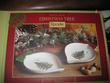 """NEW IN BOX 2pc Dish Set: Spode Christmas Tree Ornament 7"""" Serving Dishes Plates"""