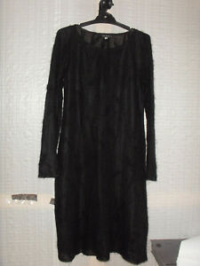 """""""ANNA SUI"""" Black Dress, Made In Italy, Size 42"""