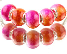 5pcs SILVER MURANO Gradient spacer beads fit European Charm Bracelet DIY #C929