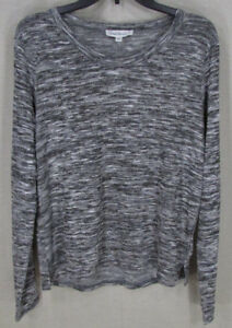 CLOUD CHASERS Women's Juniors Marled Crew Neck Sweater Heather Gray XL NEW