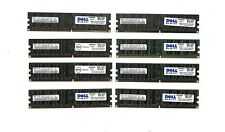 LOT 32GB (8x4GB) DELL PN 99L0206 DDR2 RAM ECC REG 667 Mhz   Reg server only