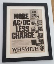 AC/DC*Less Charge*1981*ORIGINAL*POSTER*AD*FRAMED*FAST WORLD SHIP