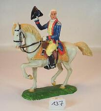 Elastolin 9150 Preußen des 18. Jahrh. 7 cm Offizier zu Pferd orange Decke  #137