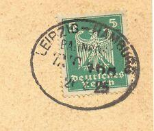 Bahnpost, Bahnpoststempel Leipzig - Hamburg, auf AK v. Schkeuditz, 1925