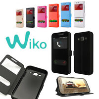 CUSTODIA MAGNETICA COVER LIBRO FLIP VIEW PER WIKO WIEW  SUNSET 2  JERRY