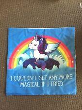 Magical Unicorn Print Cushion Cover Hidden Zip Aus stock Home Decor kids fun