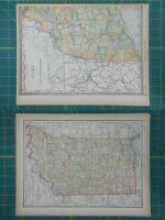 Illinois michigan vintage original 1894 rand mcnally world atlas map indiana vintage original 1894 rand mcnally world atlas map lot gumiabroncs Gallery