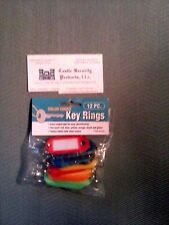 COLOR CODED KEY RING ID TAGS  12 COLOR CODED ID KEY TAGS