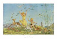 Spring Gaiety -  Vintage M W Tarrant Medici Print