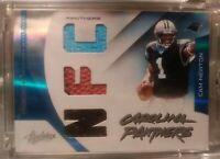 2011 Absolute Materials Cam Newton Rookie /99 NFL Jersey & Football