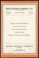1931 Brown Brothers Harriman financing letters of credit forex vintage print ad