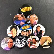 "Seinfeld 1"" Button Pin Set Comedy George Costanza Kramer Elaine Larry David"