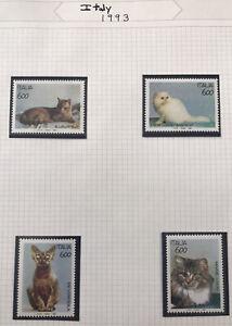 1993 Italy Domestic Cats - MNH Scott #1924-27